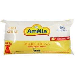 MARGARINA AMELIA USO GERAL 80%SEM SAL CX. COM 12X1 KG