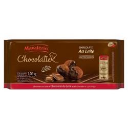 CHOCOLATE MAVALÉRIO AO LEITE PURO 1,01KG