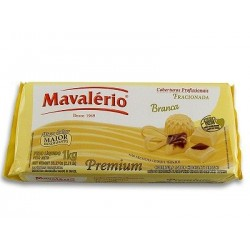 CHOCOLATE FRACIONADO MAVALÉRIO BRANCO 1,01KG