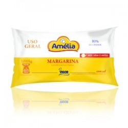 MARGARINA AMELIA USO GERAL 80% COM SAL CX. COM 12X1 KG