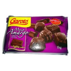 CHOCOLATE GAROTO MEIO AMARGO 1KG