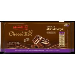 CHOCOLATE MAVALÉRIO MEIO AMARGO PURO 1,01KG