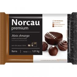 CHOCOLATE NORCAU MEIO AMARGO 1,01KG